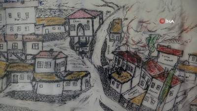 600 yılık köyündeki evleri sahiplerinin lakaplarıyla çizdi