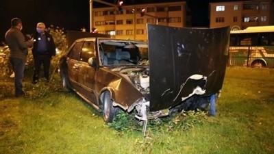 arac kullanmak - BOLU - Dur ihtarına uymayan sürücü, kaza yapınca yakalandı