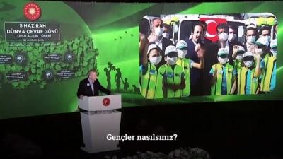 İSTANBUL - Cumhurbaşkanı Erdoğan'dan Millet Bahçeleri paylaşımı