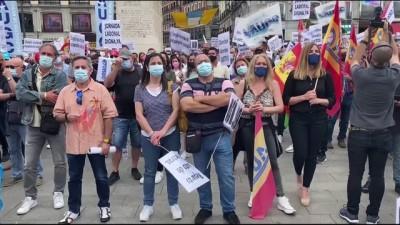 polis teskilati - MADRİD- İspanya'da jandarma çalışanları sosyal haklarının genişletilmesi talebiyle meydanlara indi