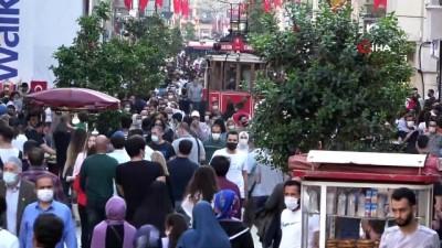 kalaba - Taksim ve İstiklal Caddesi'nde korkutan yoğunluk