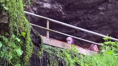 yuruyus yolu - TRABZON - 'Yer altındaki saklı cennet' yerli ve yabancı turistlere görsel şölen sunmaya hazırlanıyor