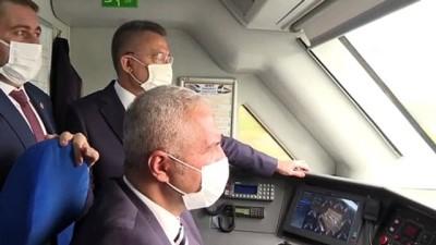 YOZGAT - Cumhurbaşkanı Yardımcısı Oktay, hızlı trende incelemelerde bulundu