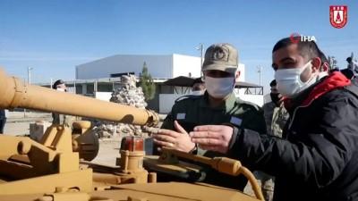 """balistik -  SSB Başkanı Demir : """"Roketsan'daki Balistik Koruma Merkezinde tasarlanıp üretilen zırh paketinin seri üretimine geçtik ve tanklara entegrasyonuna başladık"""""""