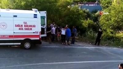 kalaba -  Virajı alamayan otomobil takla attı: 1 ölü, 5 yaralı