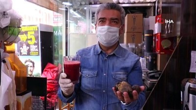 saglikli beslenme -  Bu dükkânda kola yerine kırmızı pancar suyu satılıyor