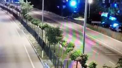 polis araci -  Polis memurunun şehit olduğu kazanın görüntüleri ortaya çıktı