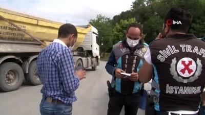 İstanbul'da hafriyat kamyonlarına denetim