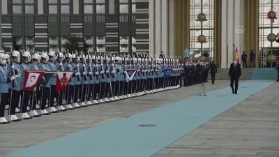 makam araci - ANKARA - Cumhurbaşkanı Erdoğan, Kırgızistan Cumhurbaşkanı Caparov'u resmi törenle karşıladı
