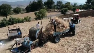 Çiftçilerin zorlu hasat telaşı
