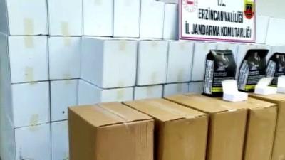 agacli - ERZİNCAN - Jandarma 270 kilo kaçak tütün ile 1 milyon 470 bin makaron ele geçirdi