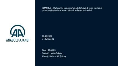 agacli - İSTANBUL - Maltepe'de kalaşnikofla 2 kişiyi yaralayan zanlı adliyeye sevk edildi