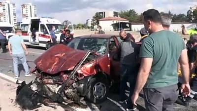 polis araci - KAYSERİ -  Polis aracıyla otomobil çarpıştı: 2'si polis 5 yaralı