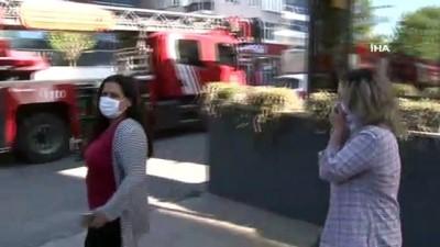 goreme -  Ümraniye'de sitede yangın çıktı, vatandaşlar tahliye edildi