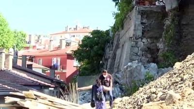 toprak kaymasi - ANKARA - İnşaat çalışmasında zarar gören istinat duvarı güçlendiriliyor (2) Videosu