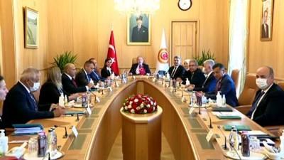 strateji - TBMM - Şentop, KKTC-Türkiye Parlamentolararası Dostluk Grubu'nu kabul etti