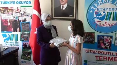 """kitap okuma -  """"Terme ile Kitap Oku Türkiyem"""" projesinde 10 bin kitap dağıtıldı"""