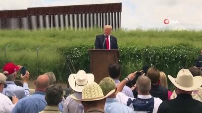 borat -  Trump, Teksas'ta durdurulan sınır duvarı inşaatında konuştu