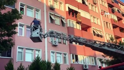 itfaiye merdiveni -  Haber alınamayan şahıs ekipleri alarma geçirdi