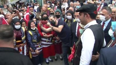 yuruyus yolu -  Konyalı Bakan Kurum'un Tonya ziyareti renkli görüntülere sahne oldu