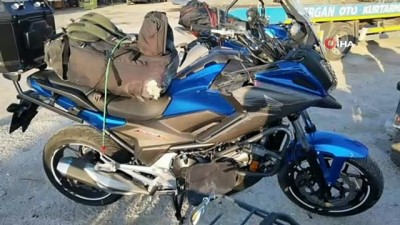 istinat duvari -  Motosiklet tutkunu genç tatil yolunda hayatını yitirdi