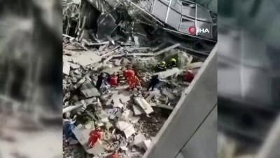 cokme -  - Çin'de otel çöktü: 1 ölü, 10 kayıp Videosu