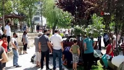 cocuk parki -  Otomobil çocuk parkına daldı: 1 yaralı