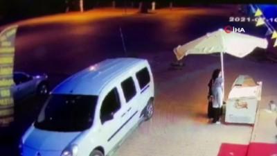 osmanpasa -  Otomobil ile çarpışan minibüs devrildi...O anlar kamerada