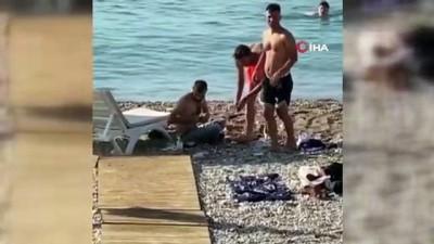 mermi -  Dünyaca ünlü sahilde oynadığı tabanca ateş alan maganda herkesi korkuttu
