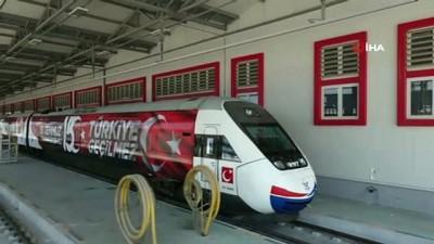 15 Temmuz görseli giydirilen Yüksek Hızlı Tren İstanbul'a uğurlandı