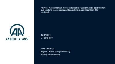 suc orgutu - ADANA - Adana merkezli 4 ildeki suç örgütü soruşturmasında 18 şüpheli tutuklandı