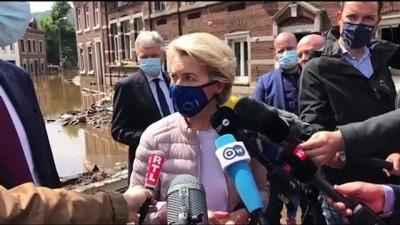 sel baskinlari - BRÜKSEL - Belçika'da sel felaketi nedeniyle ölenlerin sayısı 27'ye çıktı Videosu