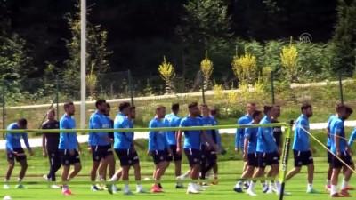 tezahur - DÜZCE - Fenerbahçeli taraftarlardan sarı-lacivertlilerin antrenmanına yoğun ilgi