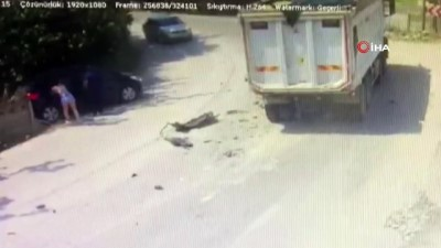 Trafik kazası güvenlik kamerasına böyle yansıdı