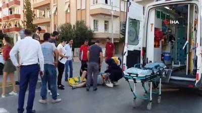 yaya gecidi -  Devrilen motosikletin sürücüsü yaralandı
