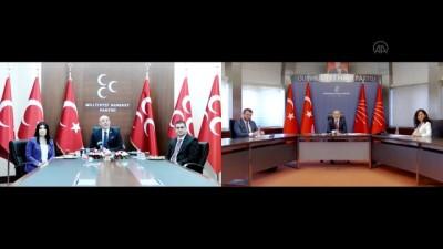 siyasi parti - ANKARA - CHP ile MHP heyetleri video konferans aracılığıyla bayramlaştı