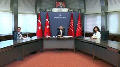 siyasi parti - ANKARA - CHP'nin siyasi partilerle video konferans aracılığıyla bayramlaşması tamamlandı (1)