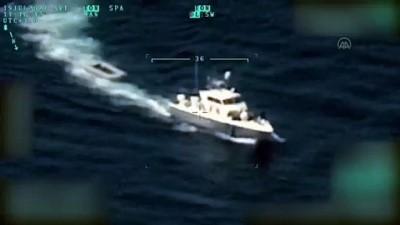 goc - ANKARA - Türk kara sularına geri itilen 15 düzensiz göçmen kurtarıldı Videosu
