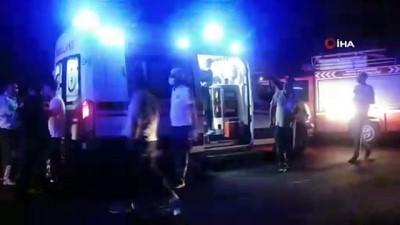 Bayram yolunda feci kaza kamerada: 9 yaralı