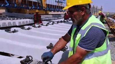 EDİRNE - 'Hızlı tren' hattı altyapı çalışmaları Bulgaristan sınırına yaklaştı
