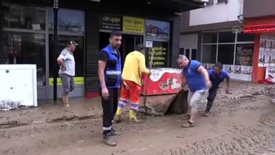 ARTVİN - Arhavi'de hasar tespit ve temizlik çalışmaları devam ediyor