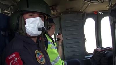 para cezasi -  İzmir'de jandarma ekiplerinden helikopterli trafik denetimi