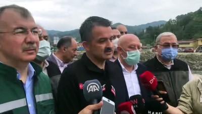 ARTVİN - Pakdemirli: 'Yaraları sarmak ve vatandaşımızı tekrar eski refahına ve konforuna ulaştırmak için buradayız'