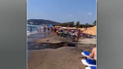 kanalizasyon - AYDIN - Kuşadası'nda patlayan kanalizasyonun suyu denize döküldü