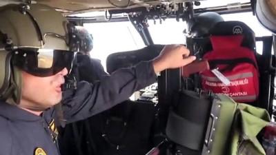 para cezasi - HATAY - Jandarma ve polis ekipleri helikopterle trafik denetimi yaptı