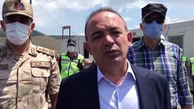 sahit - Ardahan Valisi Hüseyin Öner trafik denetimine katıldı