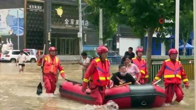 asiri yagis -  - Çin'deki sel felaketinde can kaybı 63'e yükseldi - Kayıp 5 kişiyi arama çalışmaları sürüyor