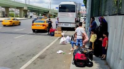 sehirlerarasi otobus - İSTANBUL - Otogarda, Kurban Bayramı tatili dönüş yoğunluğu devam ediyor