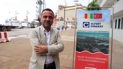 KONAKRİ - Gine'deki Alport Konakri Limanı Türk firma tarafından 500 milyon dolarlık yatırımla büyütülüyor