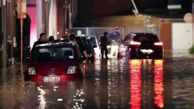 istinat duvari - NAMUR - Belçika'da aşırı yağışlar yeniden sele neden oldu
